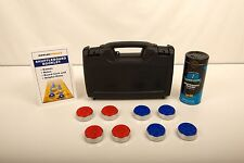 SHUFFLEBOARD TABLE PUCKS WEIGHTS + RULES + CASE + WAX !