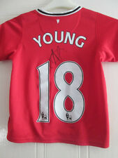 Ashley Young Signed Manchester United Home Football Shirt with COA /35188