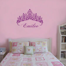 Wall Stickers custom baby Name crown decal decor Nursery Vinyl home kids room