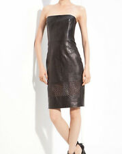 $1150 ALEXANDER WANG LEATHER BUSTIER LASER CUT DRESS SIZE 6