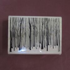 HeRO ARTS Winter Trees Forest Wood Mounted Rubber Stamp Background Nature