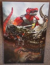 Power Rangers Dinozord vs Transformers Grimlock Glossy Print 11 x 17 In Sleeve