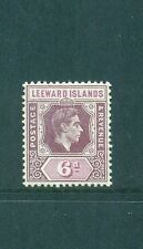Leeward Islands 1938 6d KGVI Mint SG 109