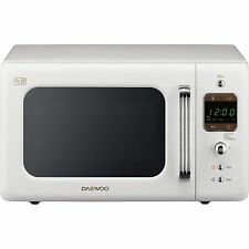 Daewoo KOR7LBKW Retro Collection 20L 800W Freestanding Microwave Oven White New
