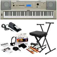 Yamaha YPG-235 Portable Grand Keyboard HOME ESSENTIALS BUNDLE