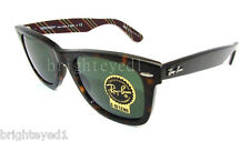 Authentic RAY-BAN Wayfarer Tortoise Sunglasses RB 2140 - 1075  *NEW*  50mm