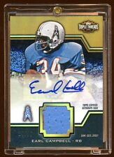 EARL CAMPBELL 2011 TRIPLE THREADS GOLD AUTO PATCH /25  MINT   HOF RB