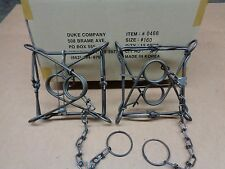 2 New Duke 160 animal body gripping traps/Woodchuck/coon trapping/raccoon