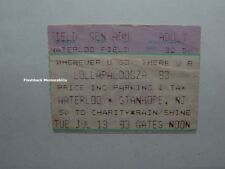 LOLLAPALOOZA 93 Ticket Stub ALICE IN CHAINS Tool PRIMUS R.A.T.M. Waterloo Field