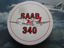 AUTOCOLLANT STICKER AUFKLEBER SAAB 340 TURBOPROP AIRCRAFT SAAB FAIRCHILD SF340