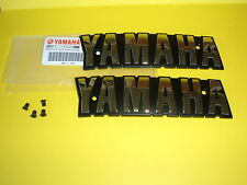 YAMAHA XS1100E, XS1100F, XS1100 Fuel Tank Emblems Badges in GOLD plus Screws OEM