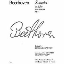 Beethoven Sonata in E Flat Major For Piano Op. 7 ABRSM Sheet Music Book S146