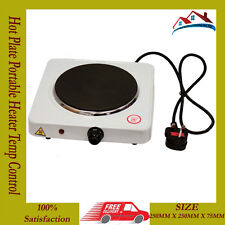 New Hot Plate Electric Hob 1500W Single Hot Plate Portable Heater Temp Control