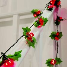 60 LED BERRY LIGHTS RED 20 TRIPLE CHRISTMAS TREE WEDDING PARTY STRING XMAS LIGHT