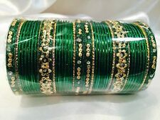 2.10 XL Bollywood Bangles Bracelet Indian Wedding Jewellery Purple Pink Gold G1