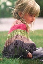 Chicas/Niño Rayas Ponch edad 6 -24 meses patrón de ganchillo