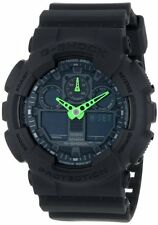 Casio G-Shock Mens Analog Digital Neon Military Black 200M Watch GA100C-1A3