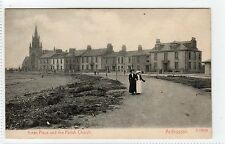 ARRAN PLACE AND PARISH CHURCH, ARDROSSAN: Ayrshire postcard (C3050).