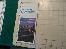 HIGH GRADE Vintage brochure/map MONTREAL access to the city 1975