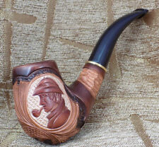 SHERLOCK HOLMES HANDMADE WOODEN TOBACCO SMOKING PIPE HAND CARVED GORGEOUS PIPES
