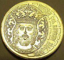 Rare Gem Unc Romania 2011 50 Bani~Incredible Details~King~Mircea The Great~Fr/sh