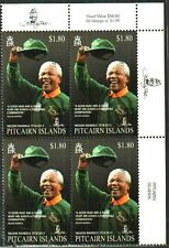 RUGBY NELSON MANDELA HALL OF FAME SPRINGBOK JERSEY BLOCK MNH