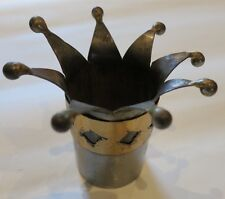 Vintage Bombay Duck candleholder in a crown design 1of 4 available