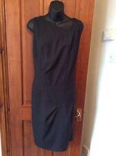 Gorgeous JASPER CONRAN Pinstripe Shift Dress UK 16 Asymmetric