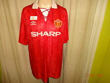 "Manchester united original umbro Double maestro camiseta 1992-1994 ""sharp"" talla XL"