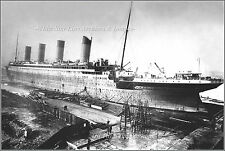 Photo: Premium View: Titanic At The Thompson Drydock, Belfast, Early 1912