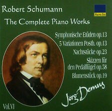 CD ROBERT SCHUMANN - the complete piano works vol. 6, Jörg Demus, neu - ovp