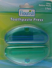 TOOTHPASTE PRESS TUBE SQUEEZE CLIPS Toothpaste Creams Ointments Adhesives 2/Pk