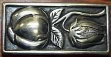 Kenneth Begay White Hogan Native American Navajo silver belt buckle