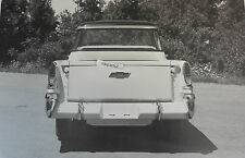 """12 By 18"""" Black & White Picture 1958 Chevrolet Cameo rear view"""