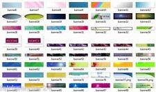 BANNER TEMPLATES V1 - 300 Webseite Banner Vorlagen Header EINZELPLATZ-LIZENZ NEU