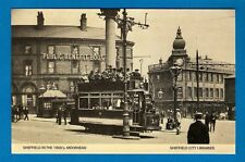 Sheffield Libraries 1970s Postcard ~ Moorhead in the 1900s: Nether Edge Tram 185