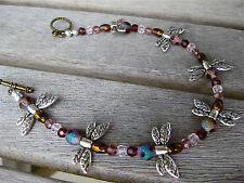 DRAGONFLY ANKLET FOOT FEET SHOE JEWELRY WITH TOGGLE CLASP NEW