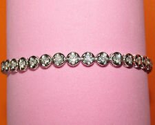 BEAUTIFUL SECONDHAND 18CT WHITE GOLD 2.70ct DIAMOND TENNIS BRACELET 19.5 cm