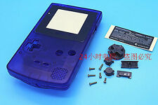 A Transparent Blue Housing Shell Case Cover Parts for Nintendo Gameboy Color GBC
