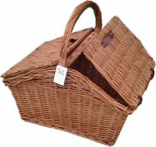 LARGE WICKER  BASKET HAMPER STORAGE SHOPPING TOYS