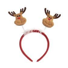 Fluffy Christmas Reindeer Deeley Bopper Headband Hair band Ladies or Girls