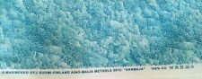 "Marimekko ""Harmaja""  Pattern Fabric 3 yds x 56"" FREE Ship BLUES (light)"