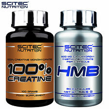 100% Creatine Monohydrate 100g & HMB 90Caps Pro Lean Ripped Muscle Mass Builder