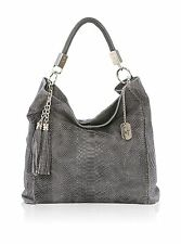 Anna Morellini le sac en cuir de femme Gris Lady's Leather bag Made in Italy