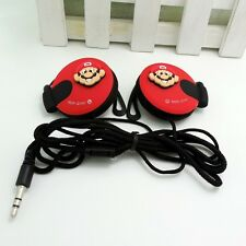 Super Mario Red 3.5mm Clip on Earphone Headphone for MP3/4 Mobilephone iPhone
