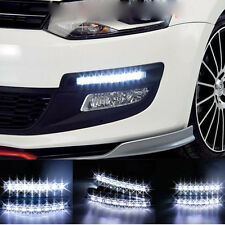New DC 12V 8 LED Waterproof Daytime Driving Running Light DRL Car Fog Lamp