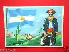 figurines cromos card figurine sidam gli stati del mondo 10 argentina flag flags