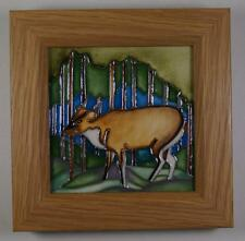A MOORCROFT Muntjac Deer Framed Wall Plaque Unusual Design 1st RRP £195