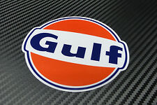 "Gulf logo laminated sticker 200 mm 8"" wide  - Officially licensed quality decal"