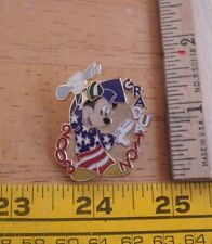 Mickey Mouse 2003 Graduation American flag Disney Pin